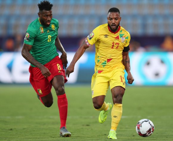 Stephane Sessegnon of Benin challenged by Andre Frank Zambo Anguissa of Cameroon during the 2019 Africa Cup of Nations match between Benin and Cameroon at the Ismailia Stadium, Ismailia on the 02 July 2019 ©Muzi Ntombela/BackpagePix