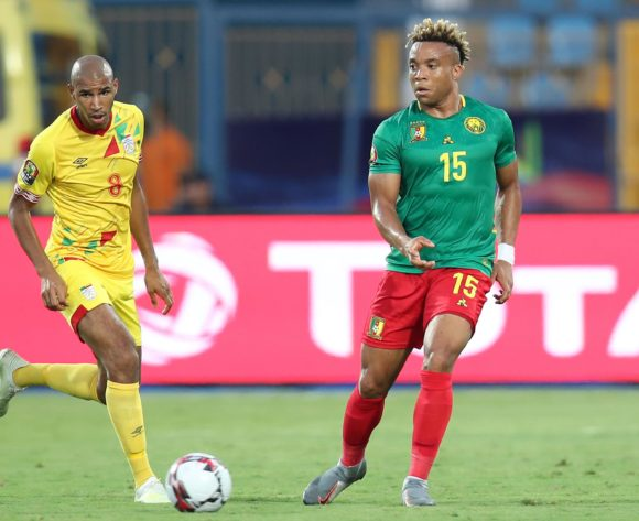 Pierre Kunde Malong of Cameroon challenged by Jordan Souleymane Adeoti of Benin during the 2019 Africa Cup of Nations match between Benin and Cameroon at the Ismailia Stadium, Ismailia on the 02 July 2019 ©Muzi Ntombela/BackpagePix