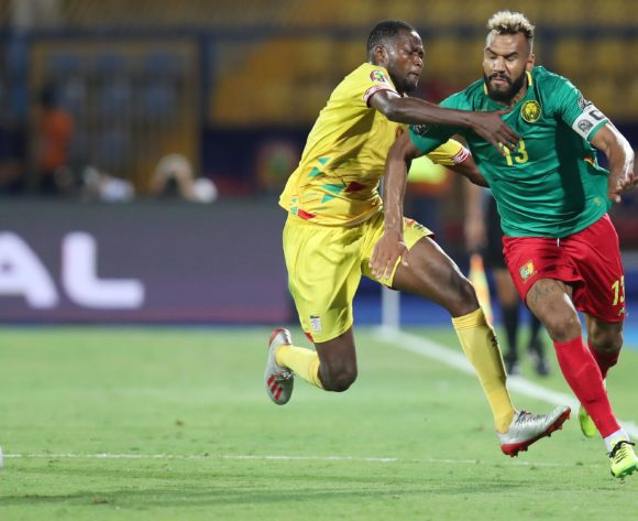 Eric Maxim Choupo-Moting of Cameroon challenged by Seidou Baraze of Benin during the 2019 Africa Cup of Nations match between Benin and Cameroon at the Ismailia Stadium, Ismailia on the 02 July 2019 ©Muzi Ntombela/BackpagePix