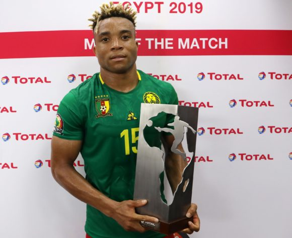 Pierre Kunde Malong of Cameroon wins man of the match award during the 2019 Africa Cup of Nations match between Benin and Cameroon at the Ismailia Stadium, Ismailia on the 02 July 2019 ©Muzi Ntombela/BackpagePix