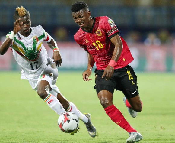 Jacinto Gelson Dala of Angola challenged by Falaye Sacko of Mali during the 2019 Africa Cup of Nations match between Angola and Mali at the Ismailia Stadium, Ismailia on the 02 July 2019 ©Muzi Ntombela/BackpagePix