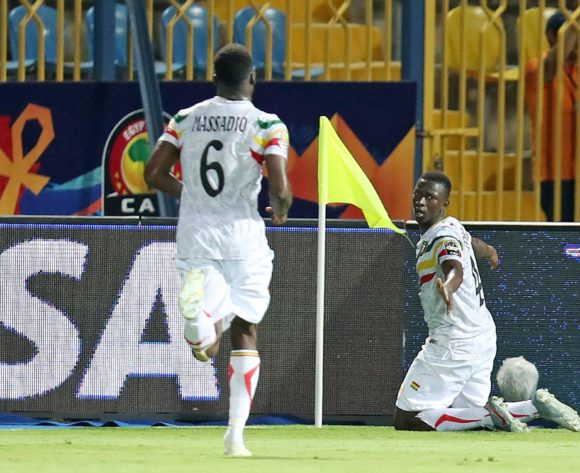 Amadou Haidara of Mali celebrates goal during the 2019 Africa Cup of Nations match between Angola and Mali at the Ismailia Stadium, Ismailia on the 02 July 2019 ©Muzi Ntombela/BackpagePix