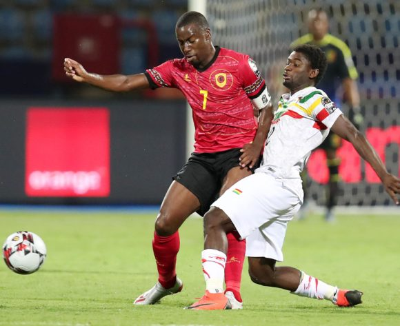 Djalma Campos of Angola challenged by Sekou Koita of Mali during the 2019 Africa Cup of Nations match between Angola and Mali at the Ismailia Stadium, Ismailia on the 02 July 2019 ©Muzi Ntombela/BackpagePix