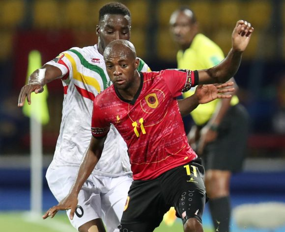 Geraldo Da Costa of Angola challenged by Massadio Haidara of Mali during the 2019 Africa Cup of Nations match between Angola and Mali at the Ismailia Stadium, Ismailia on the 02 July 2019 ©Muzi Ntombela/BackpagePix