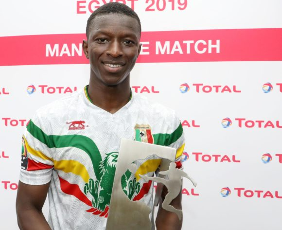 Amadou Haidara of Mali wins man of the match award during the 2019 Africa Cup of Nations match between Angola and Mali at the Ismailia Stadium, Ismailia on the 02 July 2019 ©Muzi Ntombela/BackpagePix