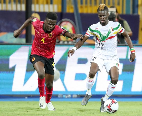 Falaye Sacko of Mali challenged by Manuel Cafumana Show of Angola during the 2019 Africa Cup of Nations match between Angola and Mali at the Ismailia Stadium, Ismailia on the 02 July 2019 ©Muzi Ntombela/BackpagePix