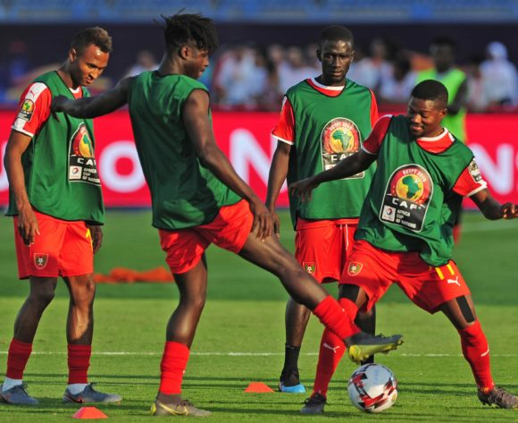 Guine-Bissau players warm up before the 2019 Africa Cup of Nations Finals football match between Guinea Bissau and Ghana at the Suez Stadium, Suez, Egypt on 02 July 2019 © Ryan Wilkisky/BackpagePix