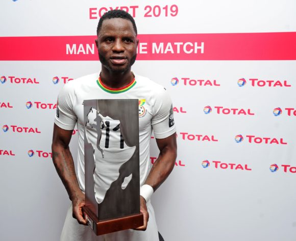Mubarak Wakaso of Ghana Man of the Match during the 2019 Africa Cup of Nations Finals football match between Guinea Bissau and Ghana at the Suez Stadium, Suez, Egypt on 02 July 2019 © Ryan Wilkisky/BackpagePix