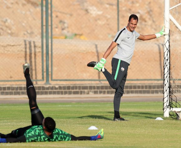 Andre Arendse goalkeeper coach of South Africa during the 2019 Africa Cup of Nations South Africa Training at the Aero Sports Complex, Cairo on the 04 July 2019 ©Muzi Ntombela/BackpagePix