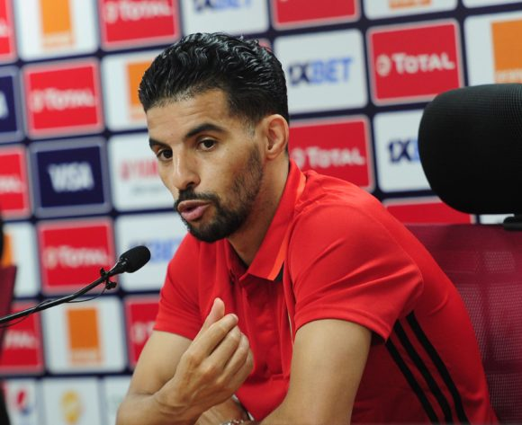M'bark Boussoufa of Morocco talks to media during the 2019 Africa Cup of Nations Finals press conference for Morocco at Al Salam Stadium in Cairo, Egypt on 04 July 2019 © Ryan Wilkisky/BackpagePix