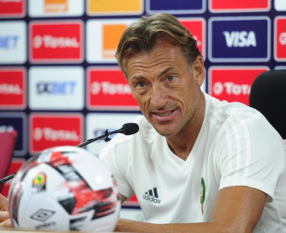 Herve Renard, head coach of Morocco talks to media during the 2019 Africa Cup of Nations Finals press conference for Morocco at Al Salam Stadium in Cairo, Egypt on 04 July 2019 © Ryan Wilkisky/BackpagePix