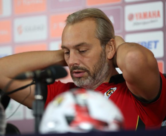Sebastien Desabre, head coach of Uganda during the 2019 Africa Cup of Nations Finals Uganda press conference at Cairo International Stadium, Cairo, Egypt on 04 July 2019 ©Samuel Shivambu/BackpagePix