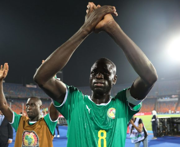 Cheikhou Kouyate of Senegal applauds fans during the 2019 Africa Cup of Nations Finals Last 16 football match between Uganda and Senegal at the Cairo International Stadium, Cairo, Egypt on 05 July 2019 ©Gavin Barker/BackpagePix