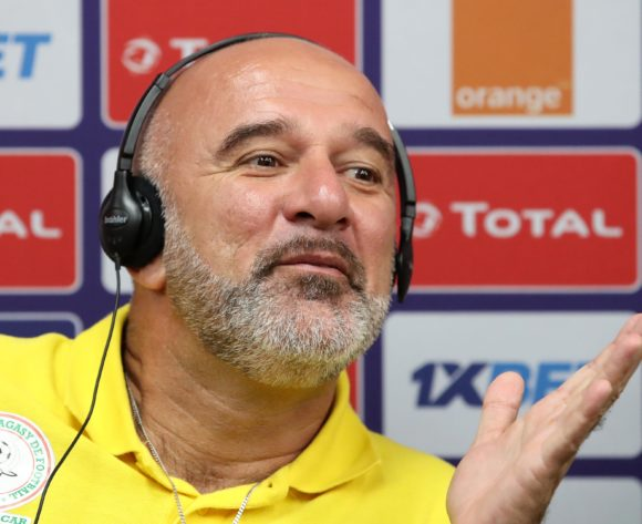 Nicolas Dupuis, coach of Madagascar during the 2019 Africa Cup of Nations Madagascar Press Conference at the Alexandria Stadium, Alexandria on the 05 July 2019 ©Muzi Ntombela/BackpagePix