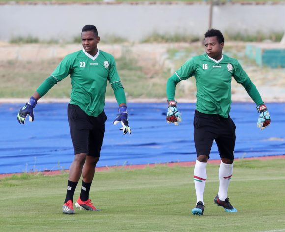 Melvin Adrien and Jean Randrianasolo Leda of Madagascar during the 2019 Africa Cup of Nations Madagascar Training at the Borg El Arab Stadium Annex, Alexandria on the 05 July 2019 ©Muzi Ntombela/BackpagePix