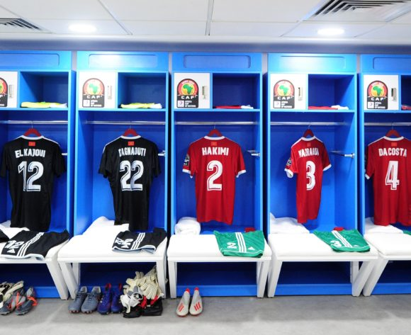 General view of Morocco dressing room shortly before the 2019 Africa Cup of Nations Finals last 16 match between Morocco and Benin at the Al Salam Stadium in Cairo, Egypt on 05 July 2019 © Ryan Wilkisky/BackpagePix