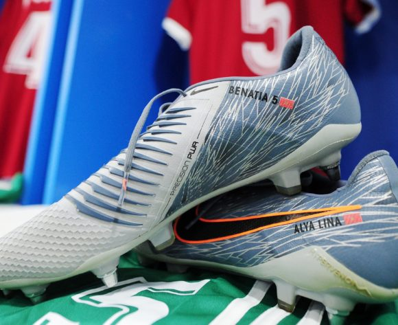 General view of Morocco dressing room and Mehdi Benatia boots shortly before the 2019 Africa Cup of Nations Finals last 16 match between Morocco and Benin at the Al Salam Stadium in Cairo, Egypt on 05 July 2019 © Ryan Wilkisky/BackpagePix