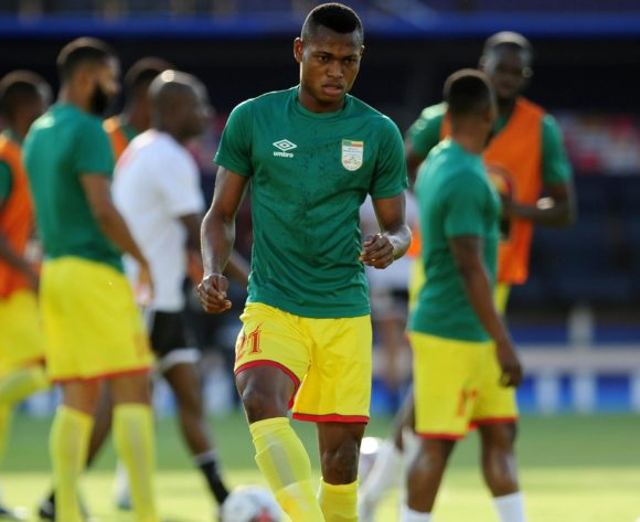 Rodrigue Kossi of Benin warms up before  the 2019 Africa Cup of Nations Finals last 16 match between Morocco and Benin at the Al Salam Stadium in Cairo, Egypt on 05 July 2019 © Ryan Wilkisky/BackpagePix