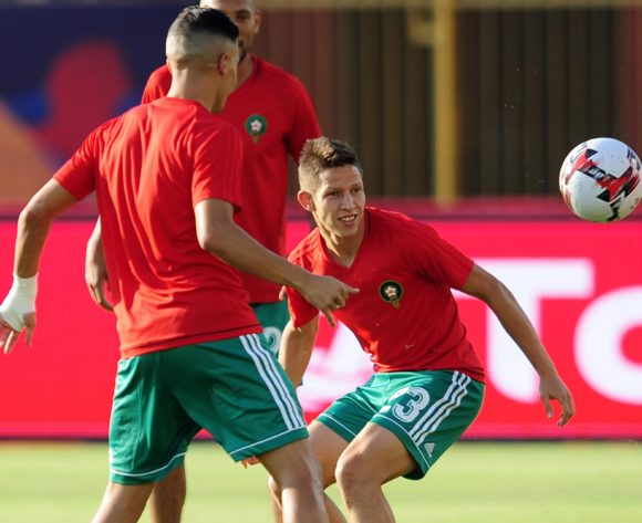 Morocco players warm up before the 2019 Africa Cup of Nations Finals last 16 match between Morocco and Benin at the Al Salam Stadium in Cairo, Egypt on 05 July 2019 © Ryan Wilkisky/BackpagePix