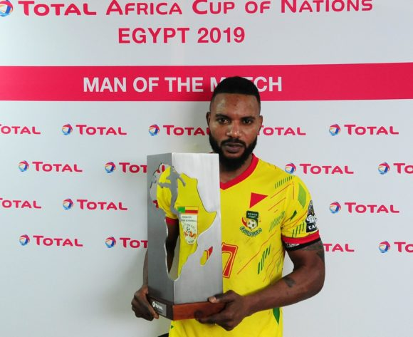 Stephane Sessegnon of Benin receives the Total Man of the Match award after the 2019 Africa Cup of Nations Finals last 16 match between Morocco and Benin at the Al Salam Stadium in Cairo, Egypt on 05 July 2019 © Ryan Wilkisky/BackpagePix
