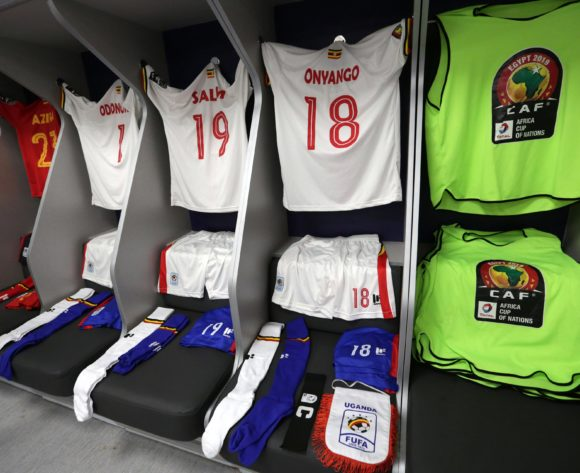 Uganda changeroom general view during the 2019 Africa Cup of Nations Finals last 16 match between Uganda and Senegal at Cairo International Stadium, Cairo, Egypt on 05 July 2019 ©Samuel Shivambu/BackpagePix