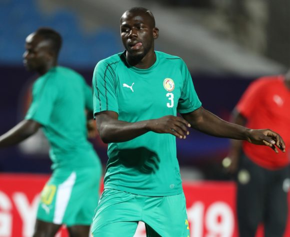 Kalidou Koulibaly of Senegal warm up during the 2019 Africa Cup of Nations Finals last 16 match between Uganda and Senegal at Cairo International Stadium, Cairo, Egypt on 05 July 2019 ©Samuel Shivambu/BackpagePix