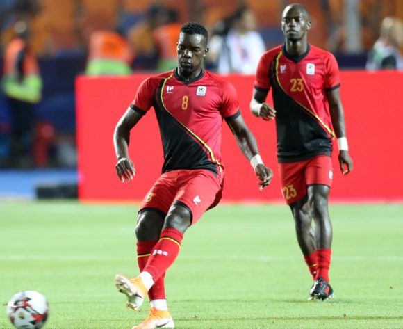 Khalid Aucho of Uganda warm up during the 2019 Africa Cup of Nations Finals last 16 match between Uganda and Senegal at Cairo International Stadium, Cairo, Egypt on 05 July 2019 ©Samuel Shivambu/BackpagePix