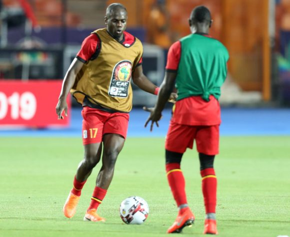 Faruku Miya of Uganda warm up during the 2019 Africa Cup of Nations Finals last 16 match between Uganda and Senegal at Cairo International Stadium, Cairo, Egypt on 05 July 2019 ©Samuel Shivambu/BackpagePix