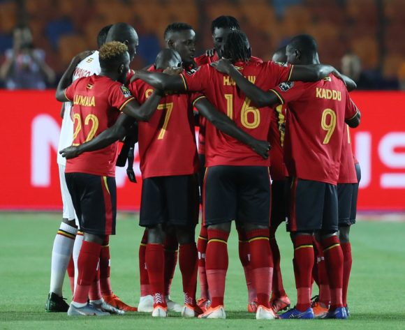 Uganda players praying during the 2019 Africa Cup of Nations Finals last 16 match between Uganda and Senegal at Cairo International Stadium, Cairo, Egypt on 05 July 2019 ©Samuel Shivambu/BackpagePix