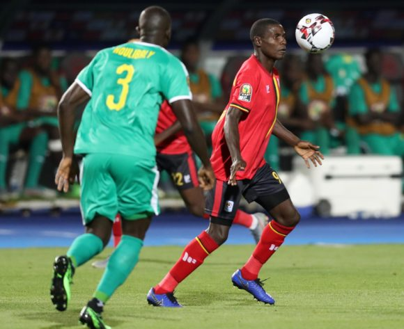 Patrick Kaddu of Uganda challenged by Kalidou Koulibaly of Senegal during the 2019 Africa Cup of Nations Finals last 16 match between Uganda and Senegal at Cairo International Stadium, Cairo, Egypt on 05 July 2019 ©Samuel Shivambu/BackpagePix