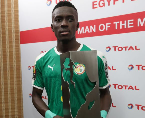 Idrissa Gana Gueye of Senegal wins Total Man of the Match during the 2019 Africa Cup of Nations Finals last 16 match between Uganda and Senegal at Cairo International Stadium, Cairo, Egypt on 05 July 2019 ©Samuel Shivambu/BackpagePix
