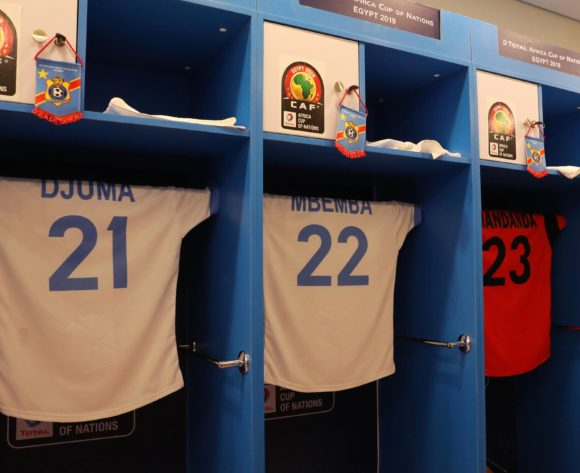 DR Congo change room during the 2019 Africa Cup of Nations Last 16 match between Madagascar and DR Congo at the Alexandria Stadium, Alexandria on the 07 July 2019 ©Muzi Ntombela/BackpagePix