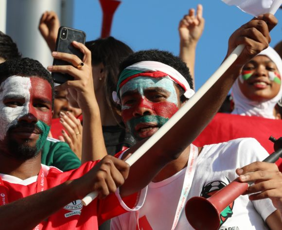 Madagascar fans during the 2019 Africa Cup of Nations Last 16 match between Madagascar and DR Congo at the Alexandria Stadium, Alexandria on the 07 July 2019 ©Muzi Ntombela/BackpagePix