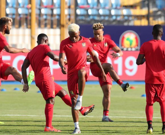 Cameroon warming up during the 2019 Africa Cup of Nations Last 16 match between Nigeria and Cameroon at the Alexandria Stadium, Alexandria on the 06 July 2019 ©Muzi Ntombela/BackpagePix