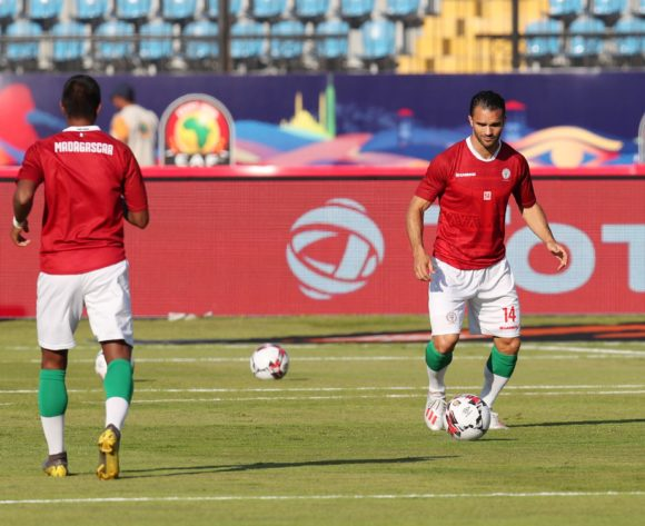Madagascar players warming up during the 2019 Africa Cup of Nations Last 16 match between Madagascar and DR Congo at the Alexandria Stadium, Alexandria on the 07 July 2019 ©Muzi Ntombela/BackpagePix