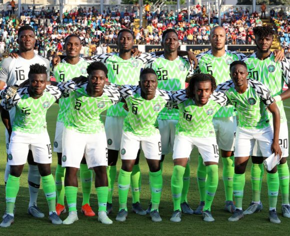 Nigeria team picture during the 2019 Africa Cup of Nations Last 16 match between Nigeria and Cameroon at the Alexandria Stadium, Alexandria on the 06 July 2019 ©Muzi Ntombela/BackpagePix
