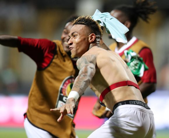 Madagascar players celebrates victory during the 2019 Africa Cup of Nations Last 16 match between Madagascar and DR Congo at the Alexandria Stadium, Alexandria on the 07 July 2019 ©Muzi Ntombela/BackpagePix