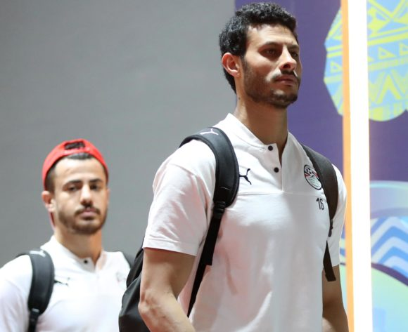 Egypt players arrivals during the 2019 Africa Cup of Nations Finals last 16 match between Egypt and South Africa at Cairo International Stadium, Cairo, Egypt on 06 July 2019 ©Samuel Shivambu/BackpagePix