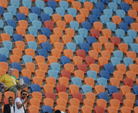 South Africa fan during the 2019 Africa Cup of Nations Finals last 16 match between Egypt and South Africa at Cairo International Stadium, Cairo, Egypt on 06 July 2019 ©Samuel Shivambu/BackpagePix