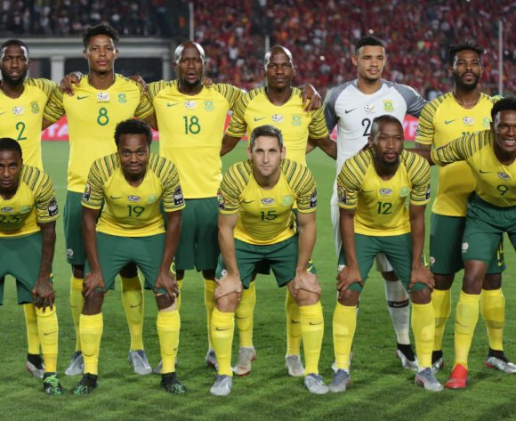 South Africa Team picture during the 2019 Africa Cup of Nations Finals last 16 match between Egypt and South Africa at Cairo International Stadium, Cairo, Egypt on 06 July 2019 ©Samuel Shivambu/BackpagePix