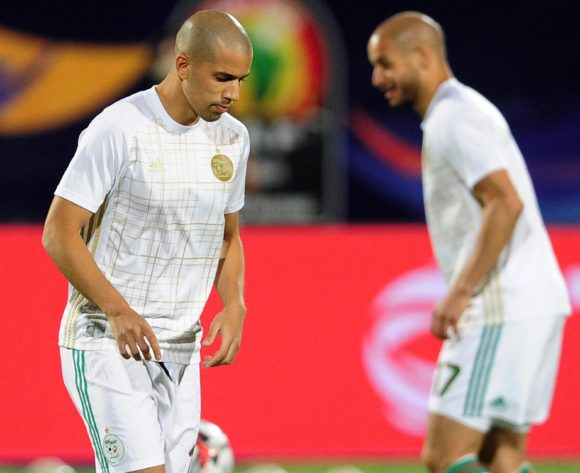 Sofiane Feghouli of Algeria warms up before the 2019 Africa Cup of Nations Finals last 16 match between Algeria and Guinea at 30 June Stadium in Cairo, Egypt on 07 July 2019 © Ryan Wilkisky/BackpagePix