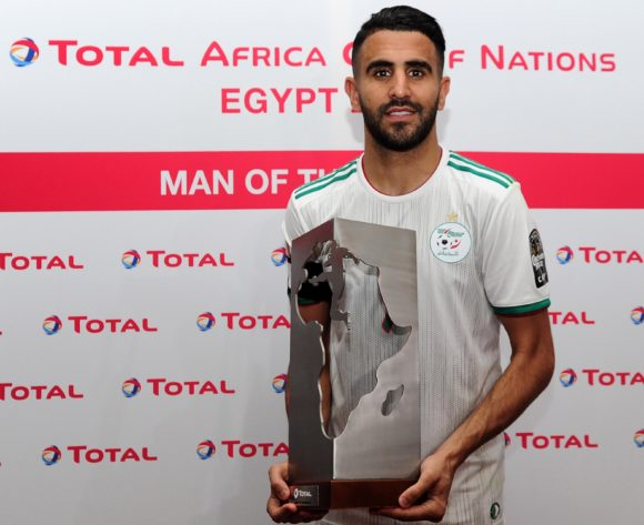 Riyad Mahrez of Algeria wins the Total Man of the Match award the 2019 Africa Cup of Nations Finals last 16 match between Algeria and Guinea at 30 June Stadium in Cairo, Egypt on 07 July 2019 © Ryan Wilkisky/BackpagePix
