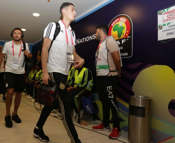 Algeria players arrivals during the 2019 Africa Cup of Nations Finals last 16 match between Algeria and Guinea at 30 June Stadium, Cairo, Egypt on 07 July 2019 ©Samuel Shivambu/BackpagePix