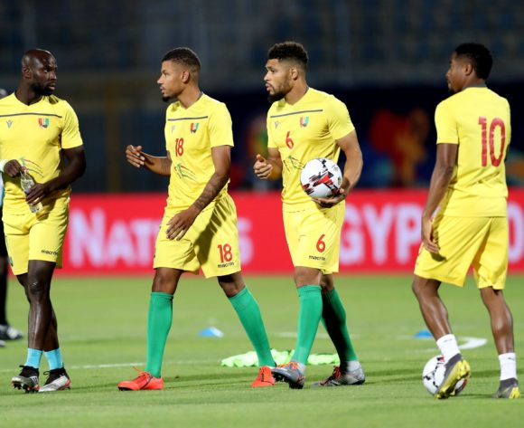 Guinea players warm up during the 2019 Africa Cup of Nations Finals last 16 match between Algeria and Guinea at 30 June Stadium, Cairo, Egypt on 07 July 2019 ©Samuel Shivambu/BackpagePix