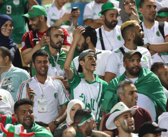 Algeria fans during the 2019 Africa Cup of Nations Finals last 16 match between Algeria and Guinea at 30 June Stadium, Cairo, Egypt on 07 July 2019 ©Samuel Shivambu/BackpagePix