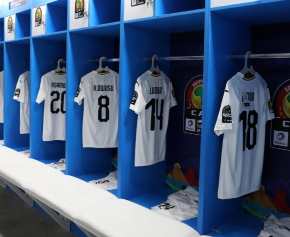 Ghana change room during the 2019 Africa Cup of Nations Last 16 match between Ghana and Tunisia at the Ismailia Stadium, Ismailia on the 08 July 2019 ©Muzi Ntombela/BackpagePix