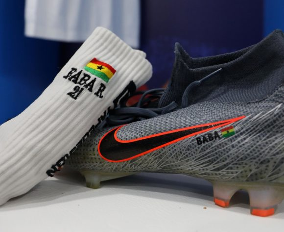 John Boye of Ghana boots during the 2019 Africa Cup of Nations Last 16 match between Ghana and Tunisia at the Ismailia Stadium, Ismailia on the 08 July 2019 ©Muzi Ntombela/BackpagePix