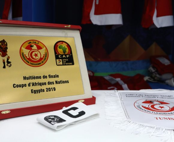 Tunisia change room during the 2019 Africa Cup of Nations Last 16 match between Ghana and Tunisia at the Ismailia Stadium, Ismailia on the 08 July 2019 ©Muzi Ntombela/BackpagePix