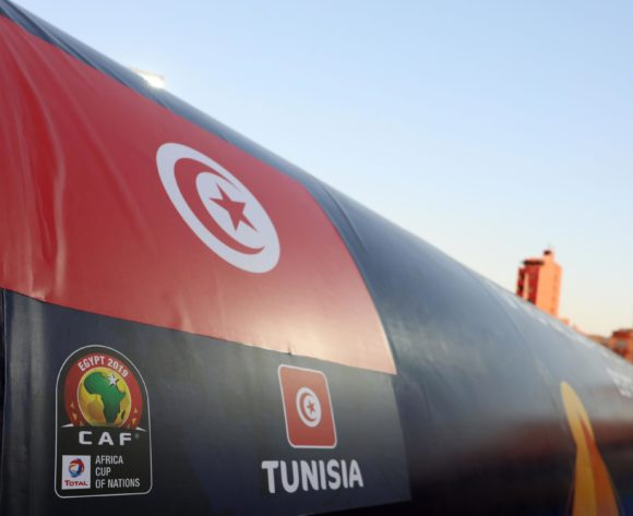 Tunisia flag during the 2019 Africa Cup of Nations Last 16 match between Ghana and Tunisia at the Ismailia Stadium, Ismailia on the 08 July 2019 ©Muzi Ntombela/BackpagePix