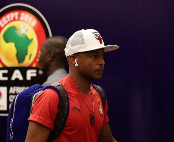 Andre Ayew of Ghana during the 2019 Africa Cup of Nations Last 16 match between Ghana and Tunisia at the Ismailia Stadium, Ismailia on the 08 July 2019 ©Muzi Ntombela/BackpagePix
